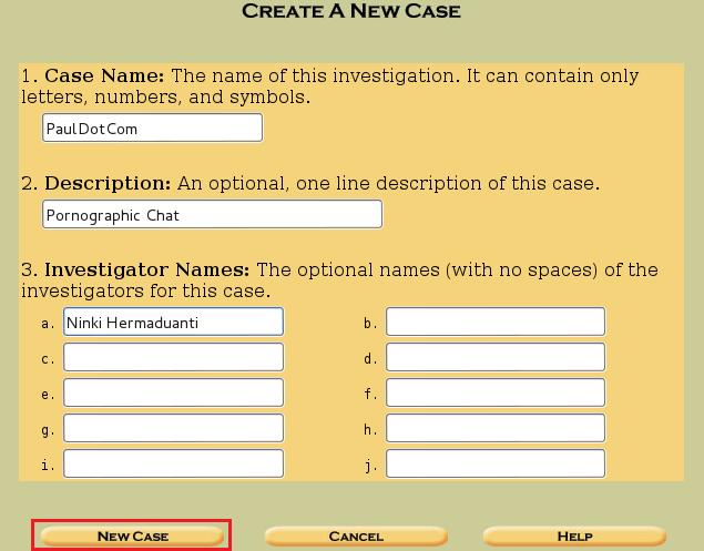 2 - create new case